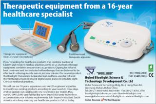 the advertisement of BLuelight therapeutic apparatus in global source