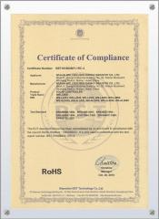 Rohs certificate for solar light controller